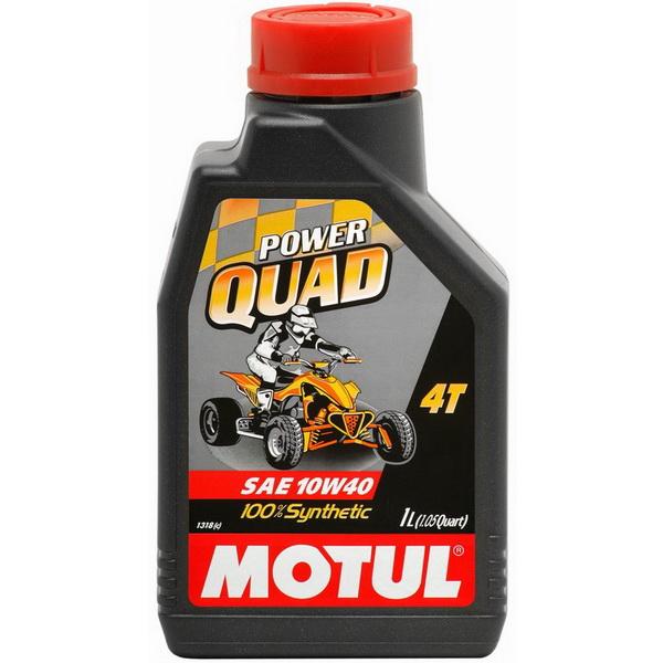 Масло Motul для 4-тактных моторов ATV Powerquad 4T 10W40 (1л)Масла и ГСМ<br>Масло для 4-х-тактных моторов, специально разработанное для спортивных и городских квадроциклов, с любым типом коробки передач, с сухим или влажным сцеплением<br>