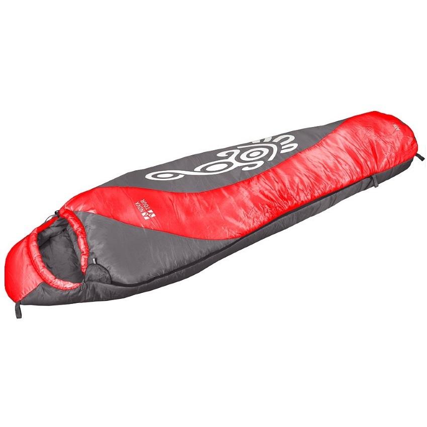 Спальный мешок NovaTour Алтай Темно-серый/красн./светло-серый