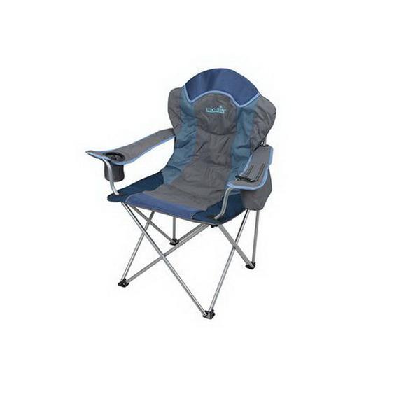 Кресло складное Norfin Rauma NFLСтулья, кресла складные<br>Складное кресло из прочного материала с мягкими подлокотниками и удобной подставкой для напитков<br>