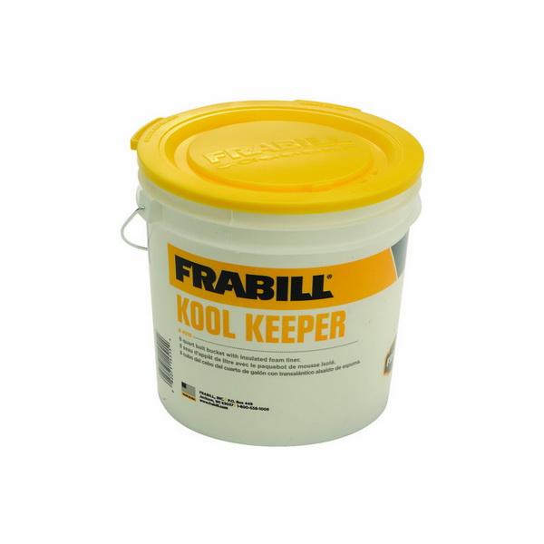 Термо-ведро Frabill Kool Keeper Bucket 4515Термоконтейнеры<br>Термо-ведро с изолирующим фактором из пеноматериала и рельефным пластиком снаружи. Сверху имеется специальное отверстие, благодаря которому можно легко менять воду в контейнере.<br>