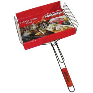 Решетка-гриль объемная универсальная Adrenalin Basket Grill PlusМангалы, барбекю, шампуры, решетки<br>Решетка-гриль объемная универсальная Basket Grill Plus предназначена для запекания мяса, птицы, рыбы, овощей.<br>   <br>                                                                        <br>- Решетка-гриль изготовлена  из пищевой нержавеющей стали с антип...<br>