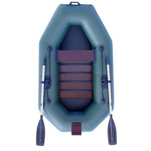 Надувная лодка Нептун К 220Т зеленая (коврик) PRO
