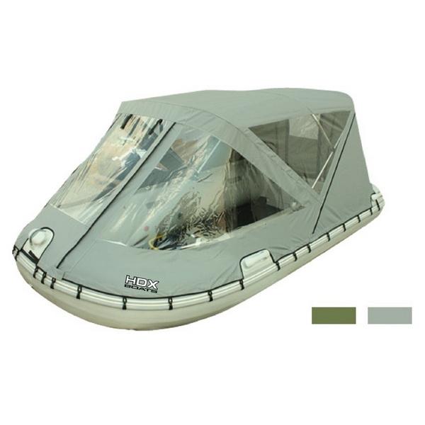 Тент Ходовой HDX 330 Для Лодки (Пвх, Алюм. Дуги), Цвет Оливка (62876)Аксессуары для надувных лодок<br><br>