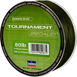 Леска Daiwa Tournament Specialist 150-8 (19038)Плетеные шнуры<br>Зеленая плетеная леска Tournament Specialist отличается высокой износостойкостью и позволяет увидеть поклевку по движению шнура.<br>
