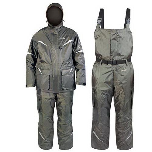 Костюм зимний Norfin BARRIERКостюмы/комбинезоны<br>Тёплый костюм, устойчивый к ветру и влаге. Функциональная куртка и полукомбинезон с эластичным поясом на талии для максимального удобства.<br>