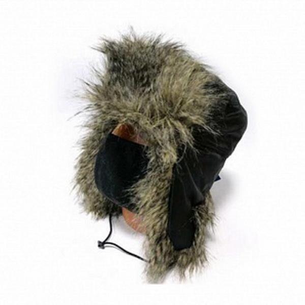 Шапка Zabava-Prime Буран, Мех Енот рипстоп, цвет черный, размер LШапки/шарфы<br>Зимняя шапка с верхом из плащевых материалов, отделанная мехом.<br>