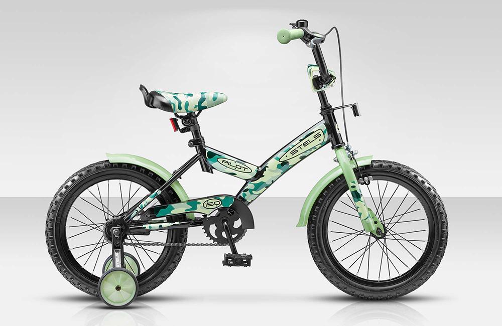 Велосипед Stels Pilot-150 16.15Велосипеды Stels<br>Детский велосипед Stels Pilot 120 16 2015 года уже успел завоевать сердца маленьких поклонников велодвижения. Малышам нравится в нем решительно все, включая необычный дизайн, удобную корзинку для игрушек, съемные колесики, благодаря которым катание стано...<br>