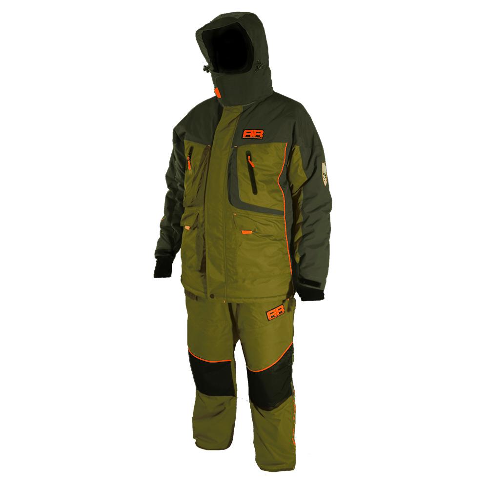 Костюм для зимней рыбалки Adrenalin Republic Rover -35, зеленый/хакиКостюмы/комбинезоны<br>Костюм состоит из куртки и штанов. Специальная конструкция подкладки с зонами, улучшающими отвод влаги, усилением материала в области колен и седалища.<br>