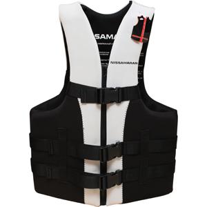 Страховочный жилет Nissamaran Life Jacket Sport X XL (размер 116-120)Спасательные жилеты <br>Спортивный страховочный жилет Nissamaran защищает от сильных ударов о воду. Благодаря трём крепким креплениям и удобной регулировке ремней, жилет плотно фиксируется на теле и не слетает при ударах.<br>