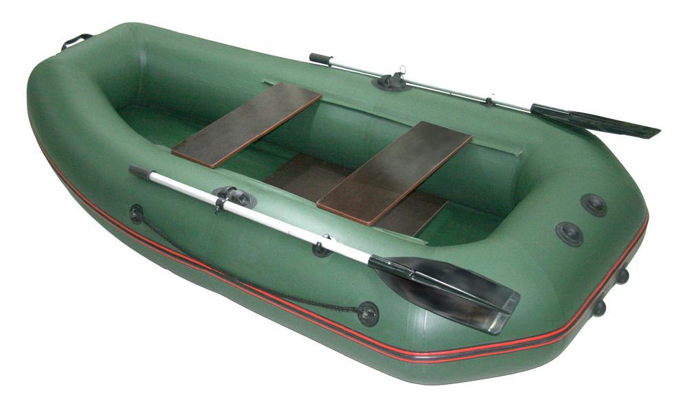 Надувная лодка Мнев Мурена MS-270 (слань) оливковый