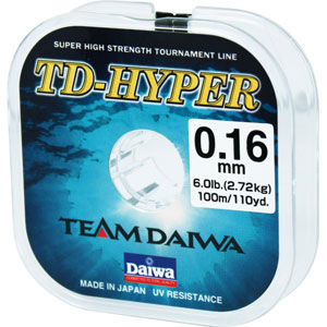 Леска Team Daiwa Hyper Tournament UV Cut 0.16 (5228)Монофильные лески<br>Сверхпрочная леска<br>