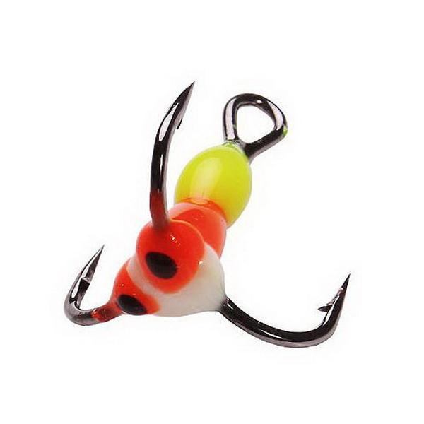 Крючок тройн. Salmo для приман. LJ Scandi с каплей цвет. 06/YRF (43763)Тройники<br>Крючок – тройник для приманок. Тройник оснащен пластиковой цветной каплей, которая очень хорошо привлекает внимание рыбы в воде.<br>