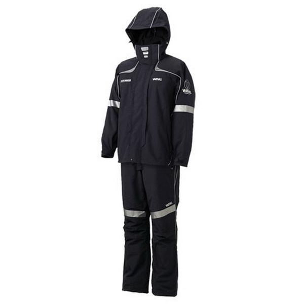 Костюм Varivas VARS-07 Dry Armour Combi Winter Rain Suit, Black, LL (82095)Костюмы/комбинезоны<br>Универсальный зимний костюм для всех видов рыбной ловли и активного отдыха на природе в холодное время года. Выполнен из двухслойного мембранного материала.<br>