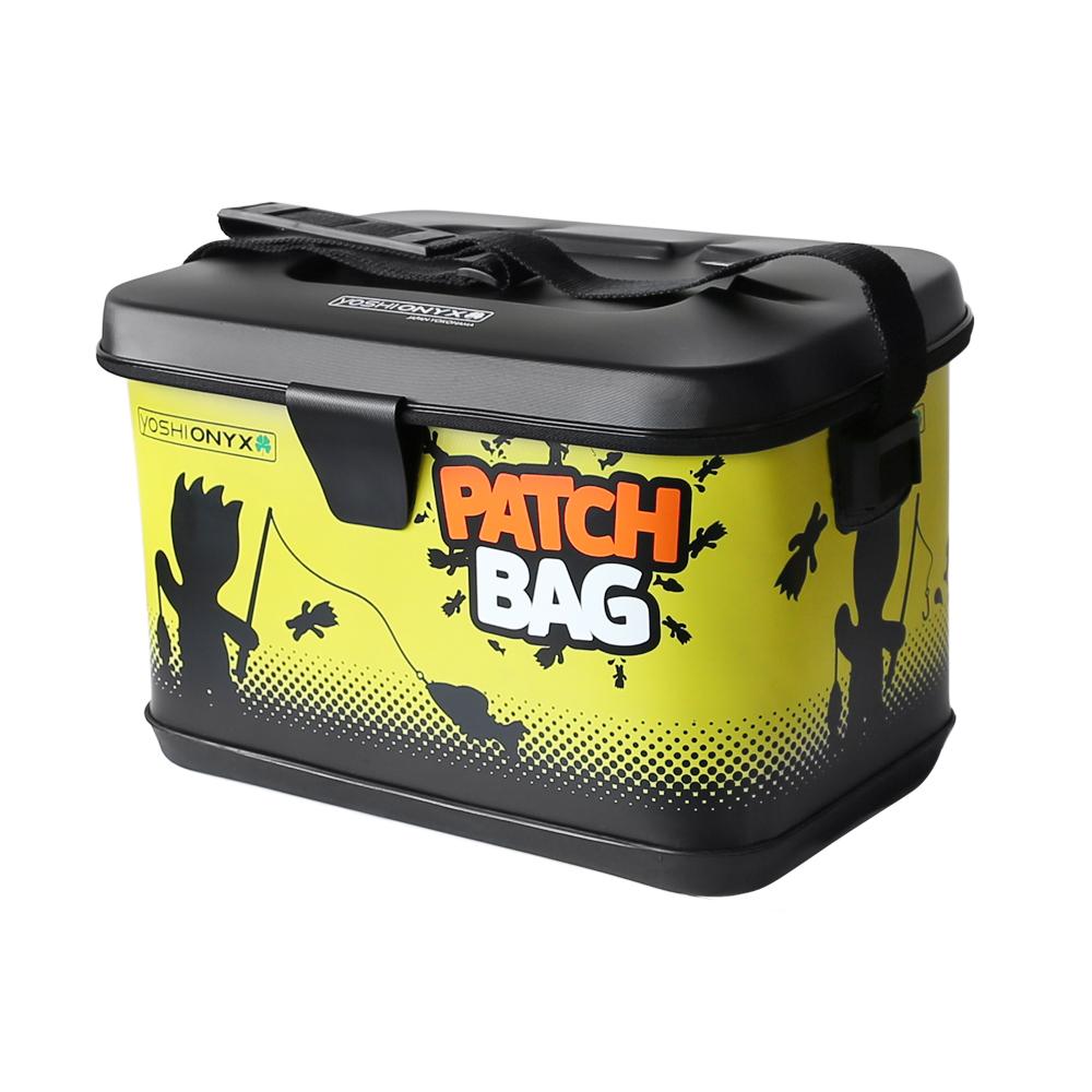 Сумка для снастей Yoshi Onyx Patch Bag, черно-желтаяСумки и рюкзаки<br>Яркая, водонепроницаемая сумка для снастей. Изготовлена из качественного материала EVA, который легко поддается чистке и мойке.<br>
