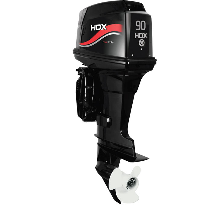 Лодочный мотор 2-х тактный HDX T 90 FEL-TПодвесные моторы<br>Двухтактные лодочные моторы HDX - это компактные и надежные двигатели. Благодаря простоте конструкции эти моторы абсолютно неприхотливы в обслуживании.<br>