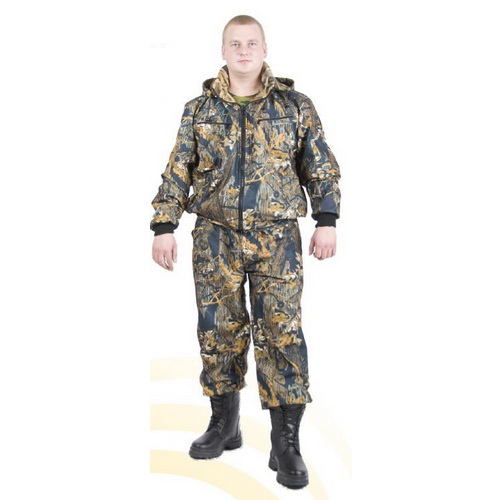 Костюм Алом-Дар д/с 2-х сторонний, Следопыт, (мембр.тк.+флис) (лес) (р. 56-58) (60379)Костюмы/комбинезоны<br>Просторный костюм для охоты или рыбалки: водоотталкивающий, с флисовым утеплением.<br>