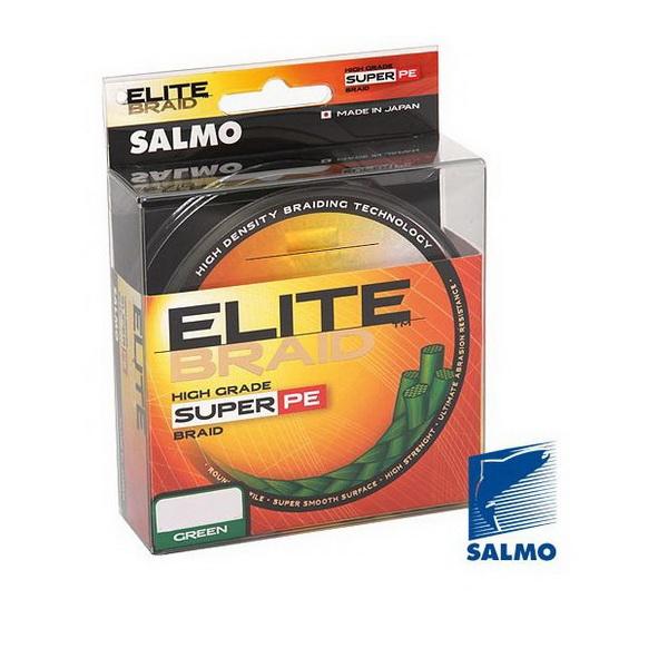 Леска плетеная Salmo Elite Braid Green 125м, #0.50   (78897)Плетеные шнуры<br>Качественная плетеная леска круглого сечения. Леска обладает высокой чувствительностью и обеспечивает постоянный контакт с приманкой.<br>