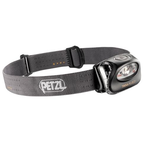 Фонарь налобный Petzl ТИККА ПЛЮС 2 серый E97 PGФонари налобные<br>Налобный фонарь с одним мощным белым светодиодом, одним красным светодиодом и пятью режимами освещения<br>