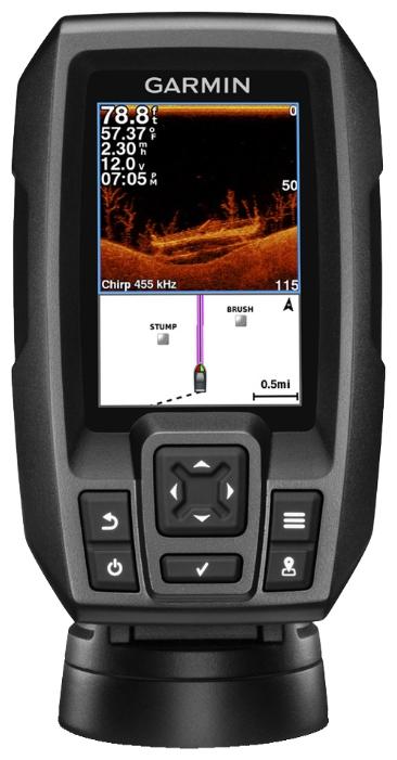 """Эхолот Garmin Striker 4dv WW 010-01551-01Эхолоты<br>Эхолот Garmin Striker 4dv - простой в использовании рыбопоисковый эхолот с цветным HVGA дисплеем 3.5"""", встроенным GPS-приемником высокой чувствительности и сканирующим сонаром Garmin CHIRP DownV . С эхолотом STRIKER 4dv поиск рыбы становится простым как н...<br>"""