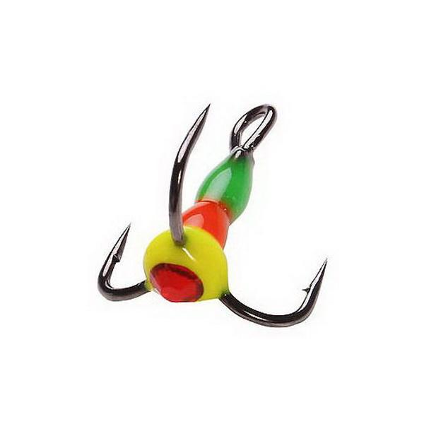 Крючок тройн. Salmo для приман. LJ Scandi с каплей цвет. 18/GRY светонакоп. (43787)Тройники<br>Крючок – тройник для приманок. Тройник оснащен пластиковой цветной каплей, которая очень хорошо привлекает внимание рыбы в воде.<br>