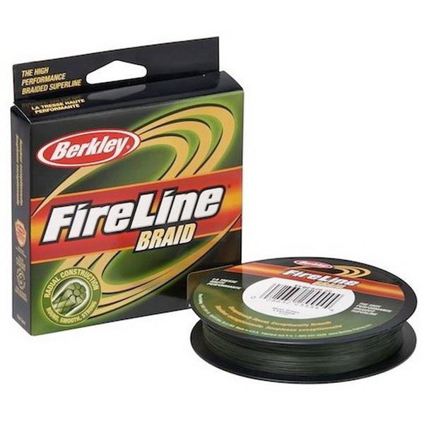 Леска плетеная Berkley FireLine Braid Moss Green 0,14мм, 14,6кг, 110м (61754)Плетеные шнуры<br>Идеальный шнур для ловли мультипликаторной и безынерционной катушками, когда важна точность заброса и прочность современного шнура. Темно-зеленый окрас шнура позволяет остаться незамеченным для рыбы.<br>