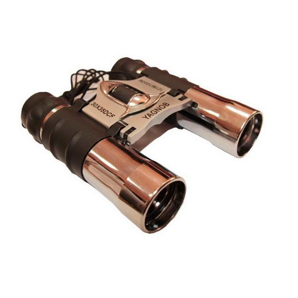 Бинокль Yagnob серебряный цвет 30х35 DCFБинокли<br>Оптический прибор для наблюдения за предметами, которые находятся на больших расстояниях. Имеет обрезиненный корпус, который хорошо лежит в руке и не выпадает.<br>