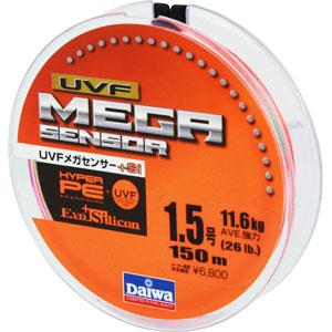 Леска Daiwa UVF Megasensor + Si #1.5-150 (19722)Плетеные шнуры<br>Cпециальной обработкой при помощи системы UVF (Ultra Volume Fiber)<br>