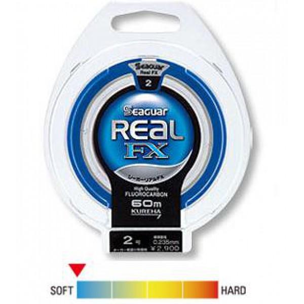 Монолеска флюорокарбоновая Kureha Seaguar Real FX 60м