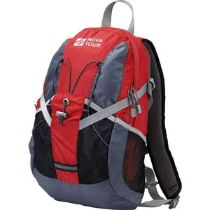 Рюкзак NovaTour Вижн 20 Серый/красный 13402-050-00Рюкзаки<br>Практичный рюкзак для города и спорта<br><br>Полужесткие вставки в спине рюкзака, крепление для шлема, отделение для гидратора, боковые карманы из сетки – специально для подвижных людей.<br>