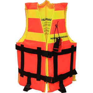 Страховочный жилет Nissamaran Life Jacket S (размер 92-96)Спасательные жилеты <br>Лёгкий, не сковывающий движений страховочный жилет Nissamaran со светоотражающими полосами и спасательным свистком.<br>