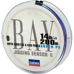 Леска Daiwa Bay Jigging Sensor #1-200 (19729)Плетеные шнуры<br>Благодаря технологии Evo Silicone  данная плетенка не только обладает прочностью и чувствительностью, свойственной всем PE- шнурам, но еще и имеет меньший на 20% коэффициент  динамического торможения при забросе<br>