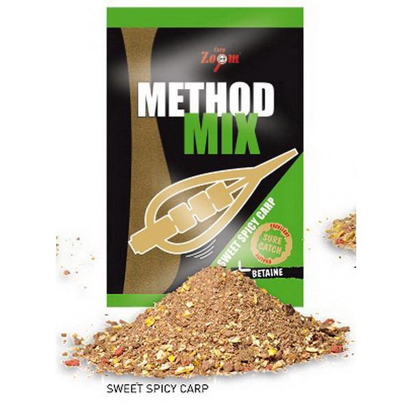 Прикормка Carp Zoom Method Mix Карп сладкие специи 1кгПрикормки<br>Методная прикормочная смесь. При заполнении ею кормушки, прикормка хорошо обволакивает стенки<br>