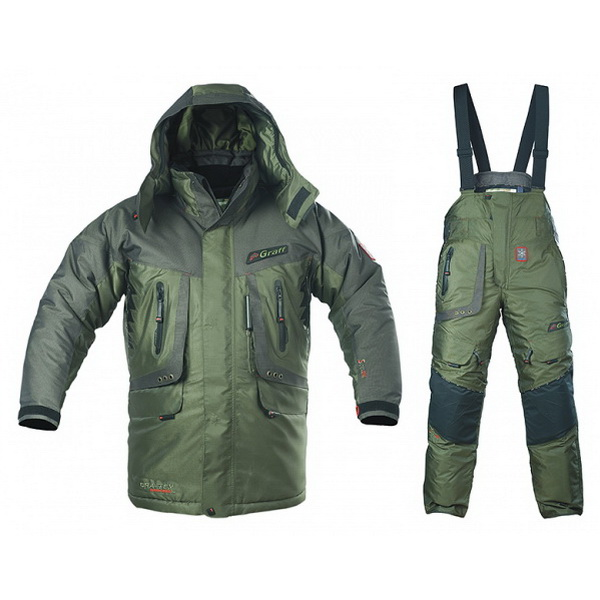 Костюм Graff зимний рыболовный 613/713 О-В разм.L (71099)Костюмы/комбинзоны<br>Рыболовный зимний костюм, состоит из куртки и штанов - кобинезона.<br>