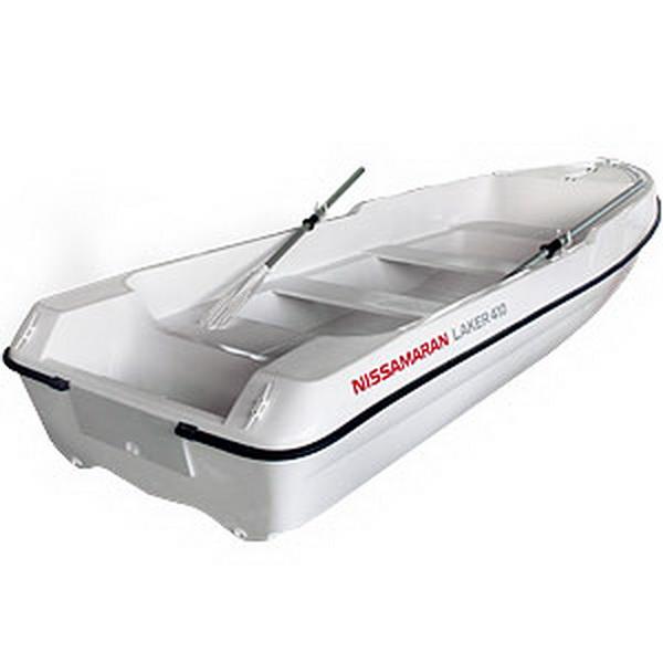 Лодка Laker T410, цвет белый (69954)Стеклоплаcтиковые лодки<br>Легкая, маневренная стеклопластиковая лодка, специально разработана для любителей рыбалки, охоты и активного отдыха. Благодаря своим уникальным обводам, которые сочетают в себе морской V-образный нос, плавно переходящие к тримаранной схеме, лодка имеет ма...<br>
