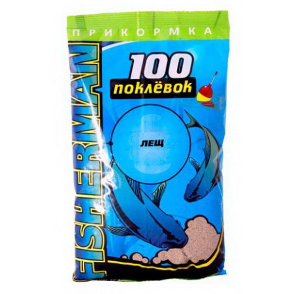 Прикормка 100 Поклевок серия Фишермен Лещ (1 уп. - 900 гр.)Прикормки<br>Сбалансированная прикормка из мелкофракционных частичек. Для изготовления использованы только натуральные ингредиенты.<br>