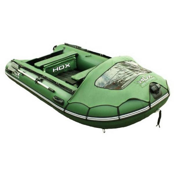 Лодка HDX Надувная, Модель Helium 300 Am (многобаллонное дно), цвет зеленый