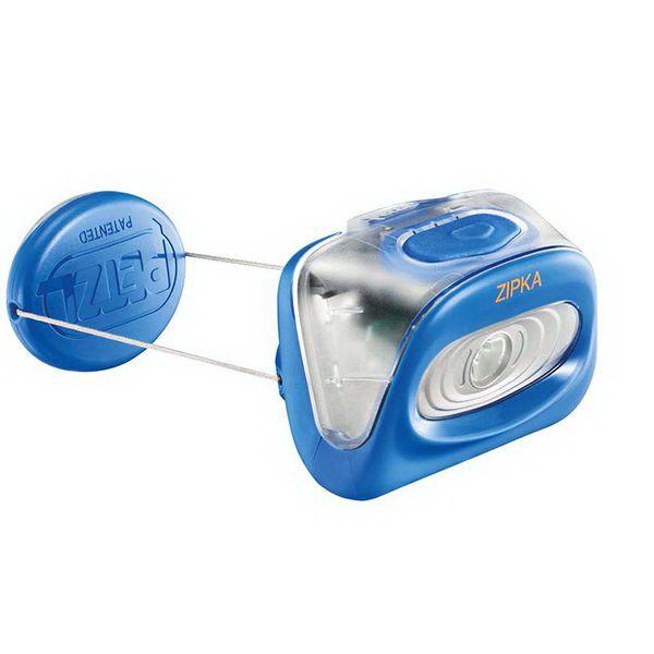 Фонарь налобный Petzl Зипка голубойФонари налобные<br>Компактный обновленный фонарь для ближнего освещения при передвижении. Излучает широкий луч для максимальной видимости во время коротких передвижений.<br>