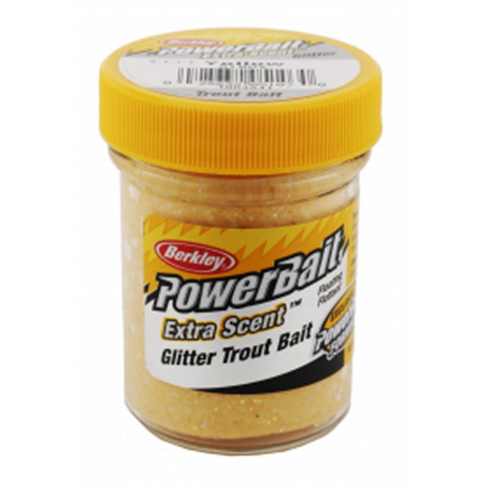 Форелевая паста Berkley Select Glitter TroutBait, 50г, цв. желтый (61843)Насадки<br>Плавающая форелевая  Berkley паста рассеивает запах и усилители вкуса с ярко сверкающим блеском для отражения света, увеличивая видимость, и вызвает больше поклевок.<br>