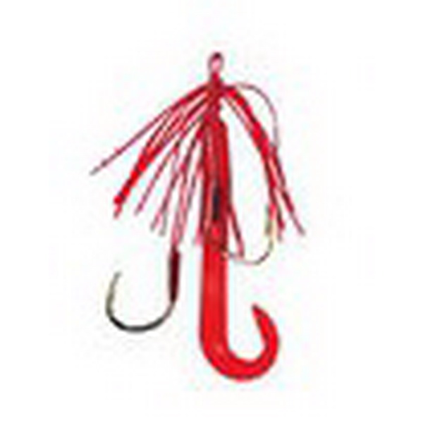 Bassday Крючки на подвязке Nin Hook / SK-02Одинарные крючки<br>Два одинарных крючка на подвязке. В комплекте 3 силиконовые приманки.<br>