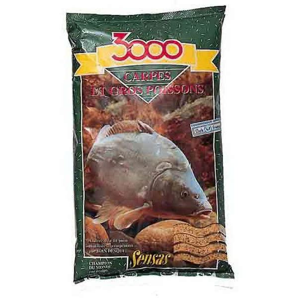 Прикормка Sensas 3000 Carp Fine Mouture 1кгПрикормки<br>Высококачественная смесь, ориентированная на быстрое привлечение рыбы в зону ловли. В ее состав входят семена крупного помола.<br>