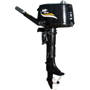 Лодочный мотор Jet! T 5 BMSПодвесные моторы<br>Подвесной лодочный двигатель Джет Т 5 - легкий двухтактный мотор, предназначен для лодок с разрешенной мощностью мотора до 5 л.с.<br>