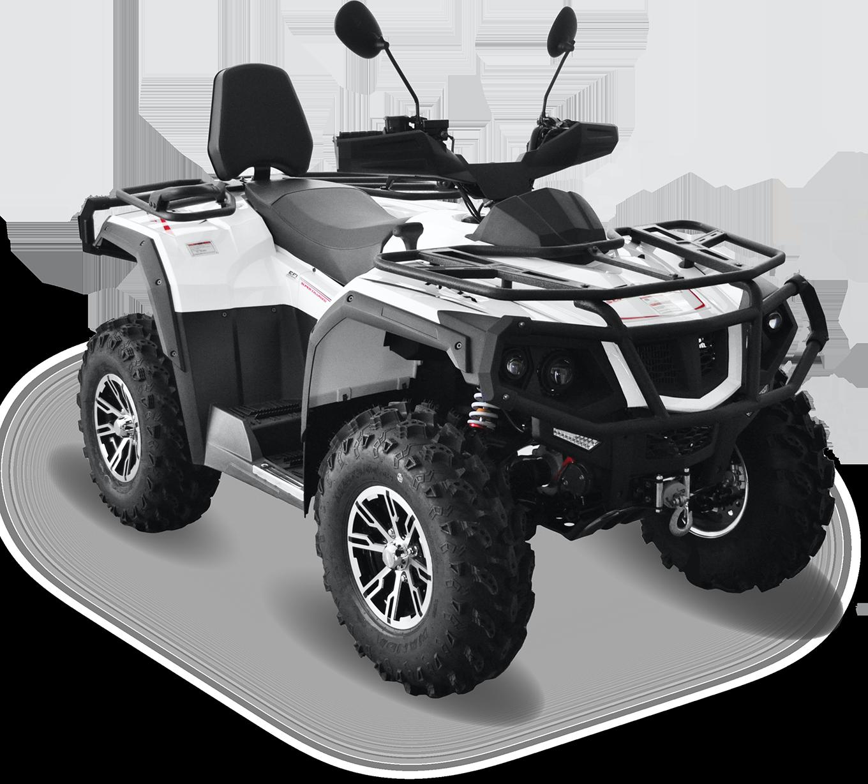 Мотовездеход HDX 550ATV, белыйКвадроциклы<br>Квадроцикл HDX 550XT оснащен системой электронного впрыска топлива, которая по настоящему стала мощным сердцем, обеспечивающим надёжную работу двигателя. 550 XT откроет перед<br>вами новые горизонты и не потребует много взамен.<br>