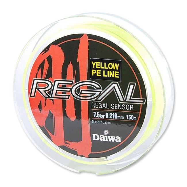 Леска плетеная Daiwa Regal Sensor 150 M yellowПлетеные шнуры<br>Плетеный шнур с большим запасом прочности, и максимально круглым сечением.<br>