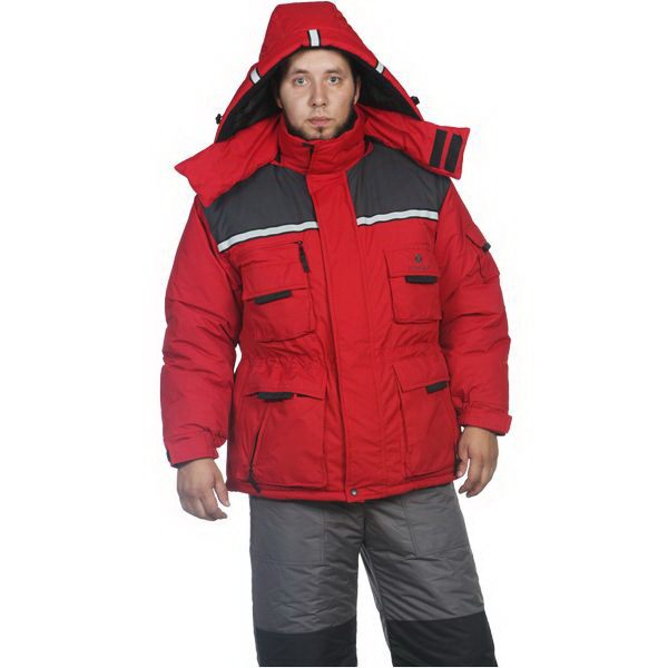 Куртка Космо-Текс Кайман (ПЗ, Таслан, Красный)Куртки<br>Теплая зимняя куртка для охоты, рыбалки, активного отдыха и повседневной носки. Капюшон имеет регулировку лицевой части по высоте при помощи резинового шнура.<br>