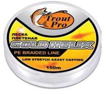 """Купить Леска плетеная Trout Pro """"Helix HCB"""" черная 150м #0.14 (36068) в России"""