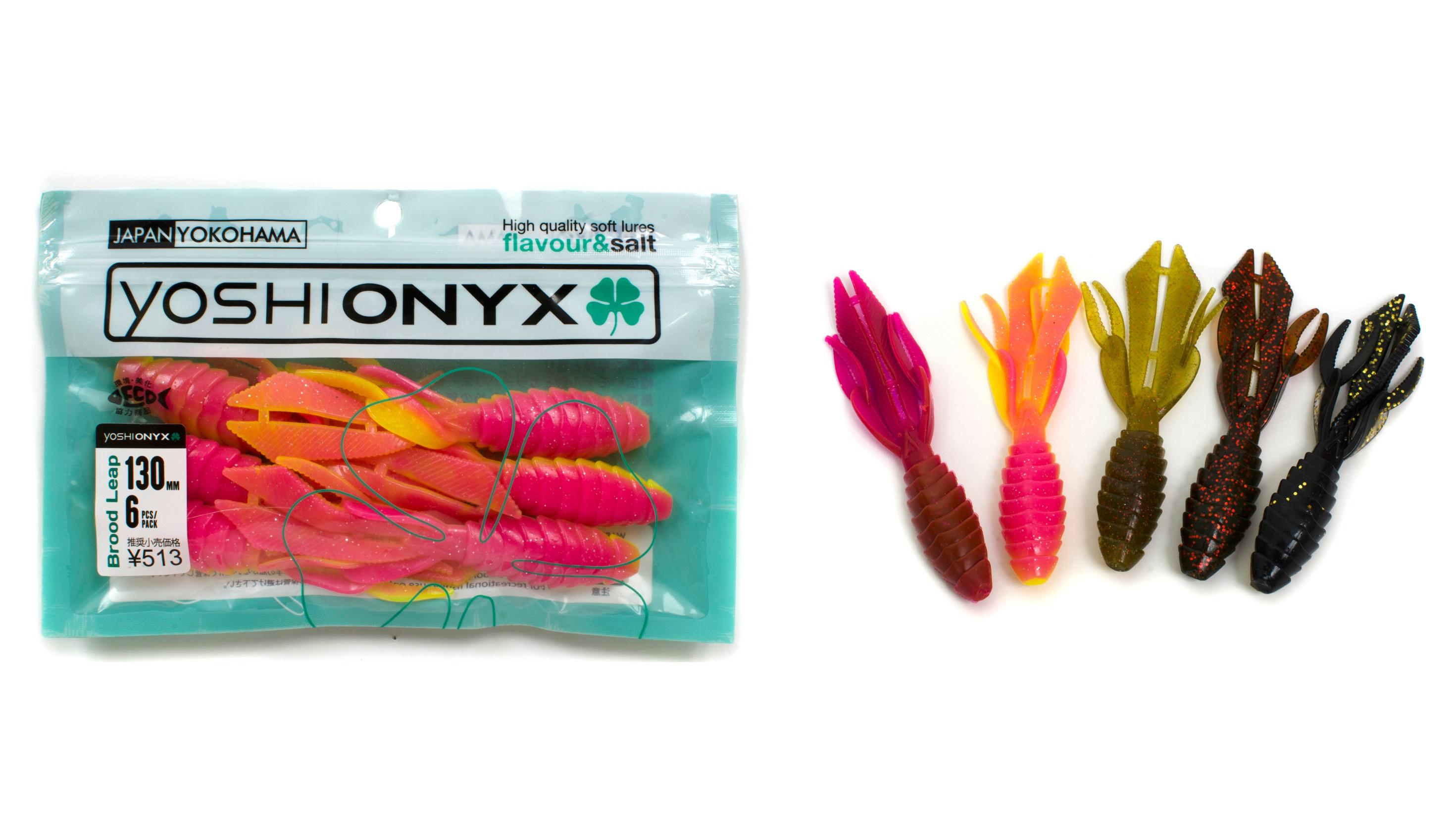 Приманка Yoshi Onyx Brood Leap 5.1Мягкие приманки<br>Впечатляющее членистоногое существо от Yoshi Onyx – Brood Leap. Это ракообразное из съедобного силикона - весомый выбор для основательной рыбалки. Глубокая, с основательным укрытием, яма, волнующее предчувствие выходящего за рамки грандиозного события – б...<br>