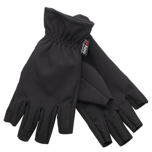 Перчатки ABU GARCIA Softshell, без пальцев, размер XLВарежки/Перчатки<br>Удобные перчатки для рыбной ловли, не стесняют движения, согревают и предохраняют от повреждений руки.<br>