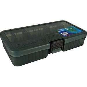 Коробка Tsuribito TF1631DКоробки<br>Удобная пластиковая коробка Tsuribito для хранения и транспортировки приманок. Коробка имеет 8 съемных перегородок и одну фиксированную, перегородки позволяют изменять размер каждого отделения. Размер  16,1 х 9,1 х 3,1см.<br>
