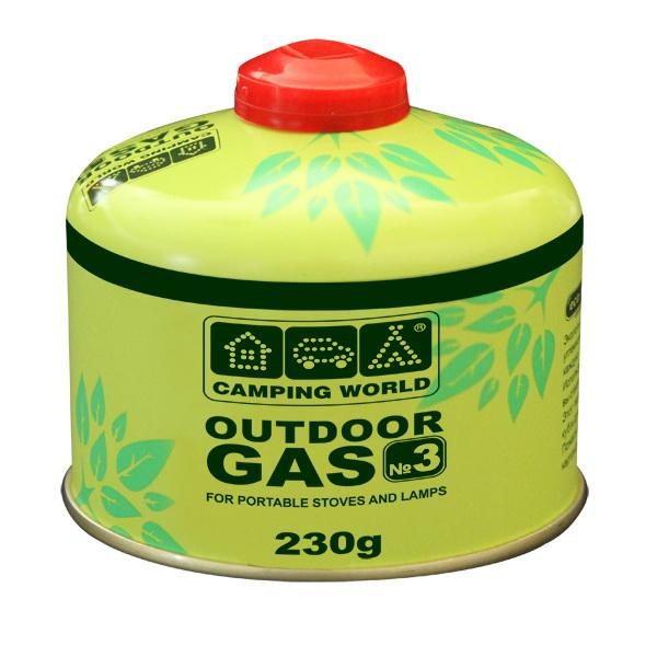 Картридж Camping World 230 г (резьбовой, кол-во газа 230г, 20% пропан + 80% бутан