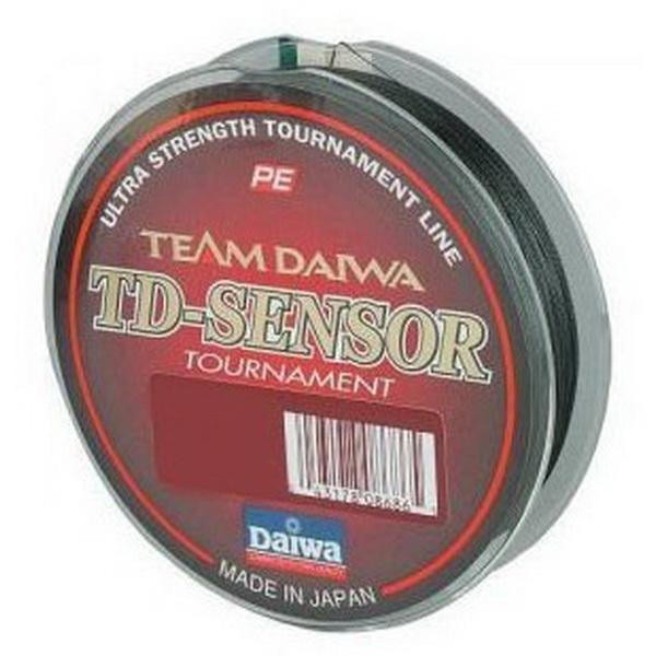 Леска плетеная Daiwa Td Sensor Tournament 50 LB - 150 M / Black (22987)Плетеные шнуры<br>Леска плетеная Daiwa TD Sensonar Tournament - высококачественные восьмижильные плетеные шнуры от японской фирмы Daiwa изготавливается из высококачественного материала PE с применением передовой технологии Tight Pitch, благодаря которой нить имеет более пл...<br>